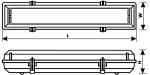 Светильник люминесцентный WPF 1x18W (IP65)