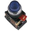 Кнопка ABLFP-22, прозрачный D22мм неон 240В 1з+1р, ИЭК