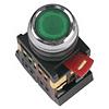 Кнопка ABLFS-22, прозрачный D22мм неон 240В 1з+1р, ИЭК