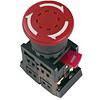 """Кнопка AE22 """"Грибок"""", с фиксацией красный D22мм 240В 1з+1р, ИЭК"""