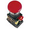"""Кнопка AEAL-22 """"Грибок"""", с фиксацией красный D22мм 240В 1з+1р, ИЭК"""