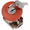 """Кнопка LAY5-BS142 """"Грибок"""", с ключом красный D22мм 240В 1з+1р, ИЭК"""