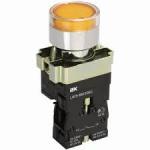 Кнопка LAY5-BW3561, с подсветкой желтая 1з, ИЭК