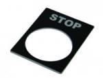 Табличка маркировочная STOP черная